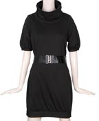 Mod Belted Sweater Dress