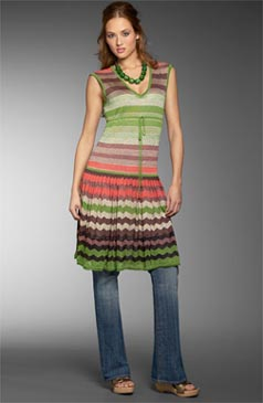 BCBGirls ´Nia´ Lurex® Stripe Dress