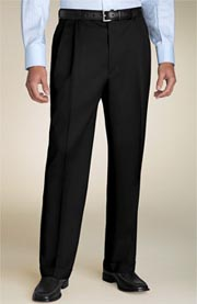 Nordstrom Pleated Gabardine Wool Trousers