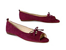 Palatine Peep Toe Flats at Anthropologie