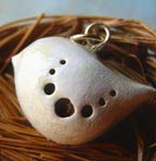 Pale Country Bird Pendant Charm