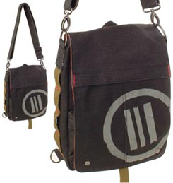 Parcel Black Daily Vegan Messenger Bag