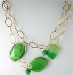 Petra Gold Filled Chalcedony Necklace