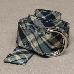 Plaid Madras Belt