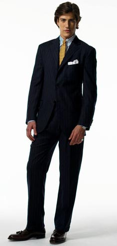 Ralph Lauren Three-Button Pinstriped Suit
