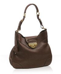Prada Brown Lock Hobo