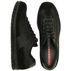 Prada Black Mesh Sneakers