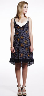 Puella Printed Smock Tank Dress