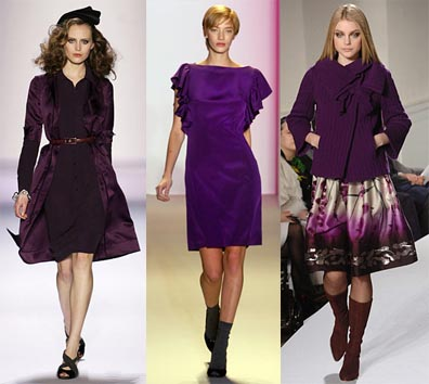 Fall 2008 Fashion Week Trend: The Color Purple