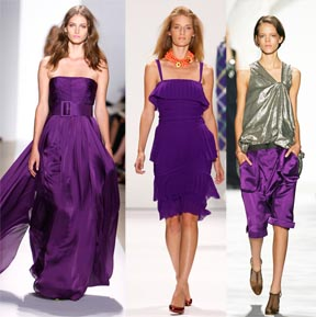 Purple by Reem Acra, Tuleh, Vera Wang