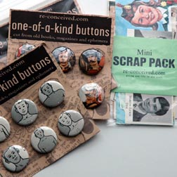 Re-Conceived One-of-a-Kind Buttons