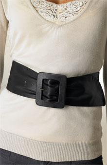 Roma Accessories Leather Sash Belt