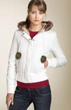 Roxy \'Snow Bunny\' Bomber with Faux Fur