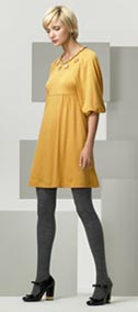 See by Chloe Mustard Yellow Jersey Dress