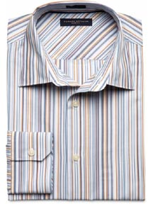 Slim Fit Multi Stripe Dress Shirt