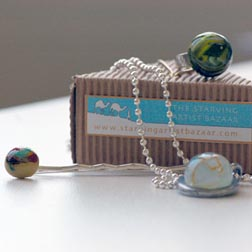 Handmade Glass Jewelry from Starving Artist Bazaar