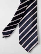 Stitch Stripe Narrow Tie