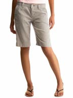 Striped Denim Bermuda Shorts at Gap