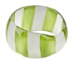 Striped Lucite Bangle