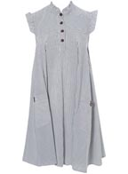 Topshop Striped Swing Dress