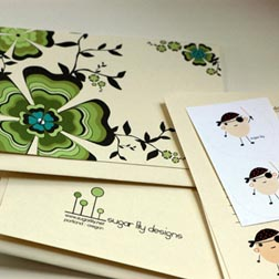 Sugar Lily Greeting Cards