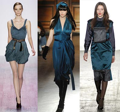 Try navy or green for a thoroughly cool look or warm up the teal with brown