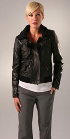 Theory Nyree Leather Jacket