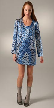 Tibi Leopard Shift Dress