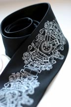 Engine Rosette Silk Tie
