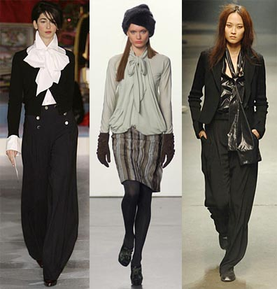 Fall 2008 Fashion Week Trend: Tie-Neck Blouses