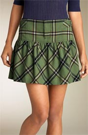Tildon Plaid Miniskirt