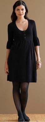 Trumpet Sleeve Sweater Dress
