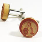 Vintage Bingo Chip Cuff Links