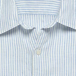 Washed Irish Linen Ellis-Stripe Shirt