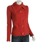 Whim Hot Ginger Cashmere Cardigan