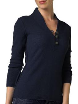 Wool Cashmere Henley Sweater