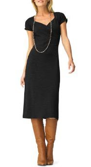 Wool Jersey Wrap-Front Dress