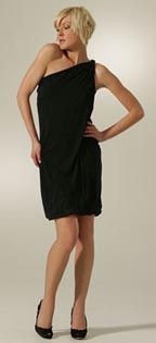 YAYA AFLALO Fans Noir Dress