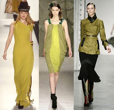 Fall 2008 Fashion Week Trend: Yellow Green