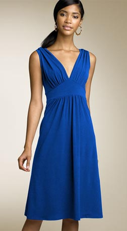 Velvet Torch Double V-Neck Dress