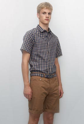 "A.P.C. ""Plaid Shirt"" and ""Plaid Belt"""