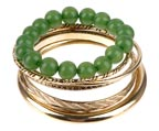 Bead Metal Bangle Set