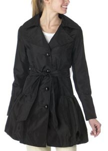 Bubble Skirt Trench Coat