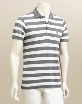 Burberry Slim Fit Striped Polo