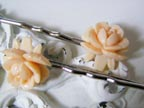 Cream Rose Bobby Pins