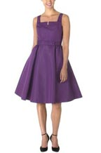 Issac Mizrahi Taffeta Couture Bodice Dress in Purple