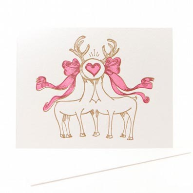 Don't Press Me - I Love You Deer Letterpress Cards
