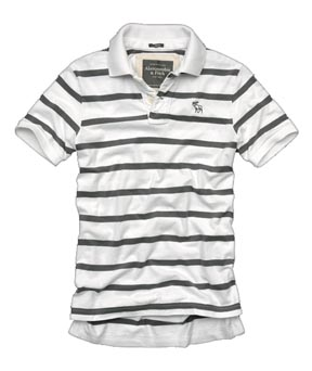 Mount Marshall Polo in Grey Stripe