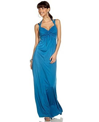 Speechless Twist-Front Halter Gown