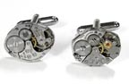 Steampunk Vintage Swiss Watch Parts Cuff Links